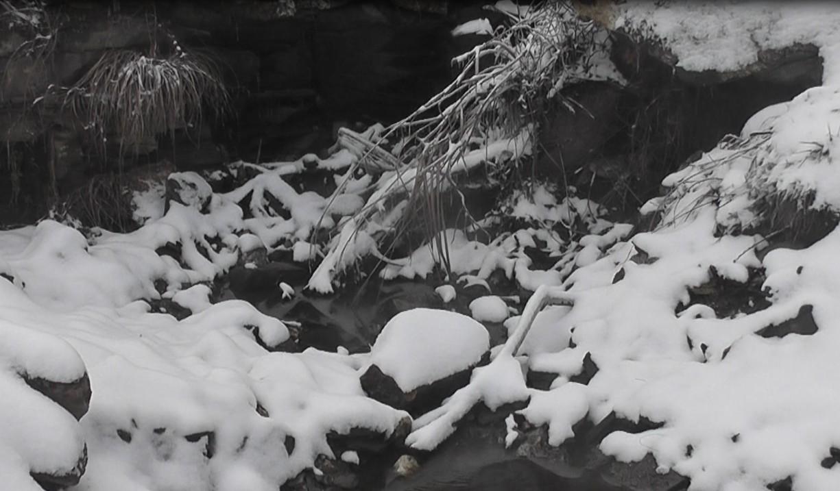 我大平江下雪了,一般人都看不到【视频 】